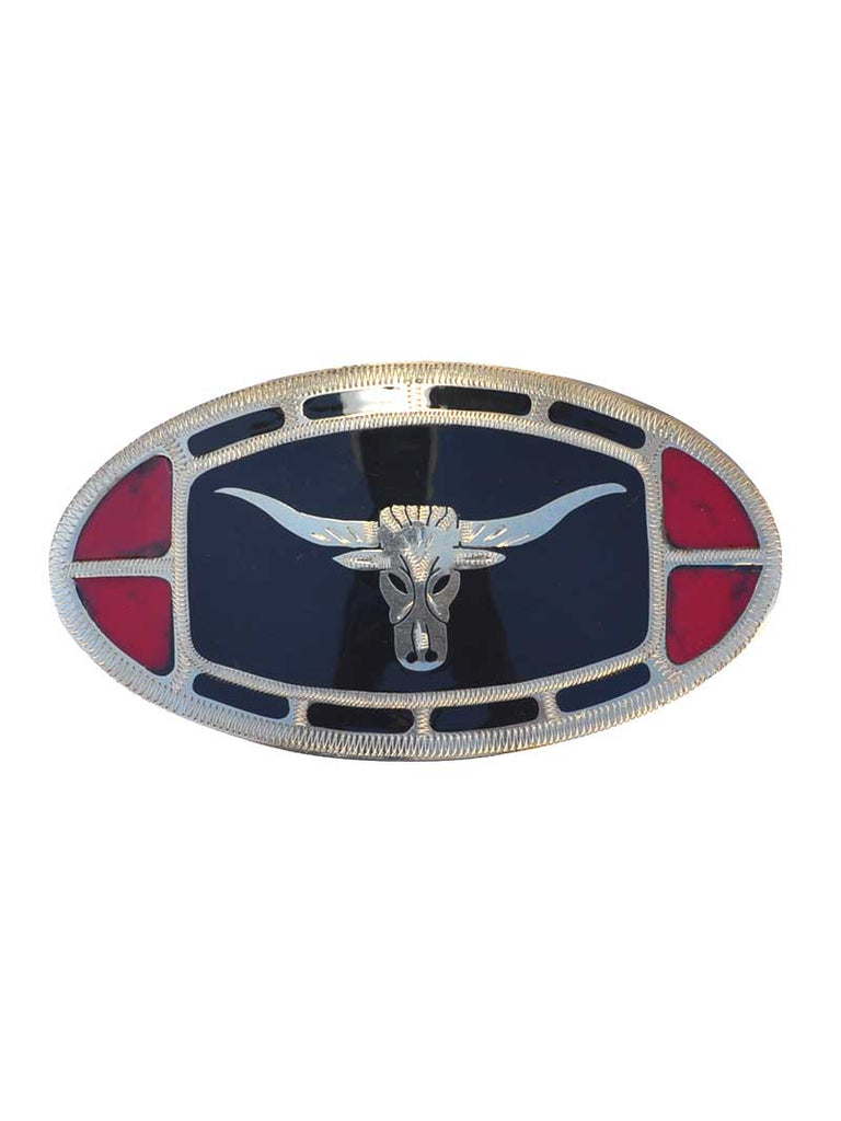 Johnson & Held Nickle Silver Longhorn Handcrafted Buckle Johnson & Held - J.C. Western® Wear