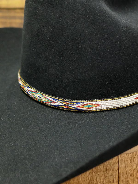 "Twister 0201897 1/2"" Ribbon With White Tassel Hatband Multi Hat is not included. Only Hatband."