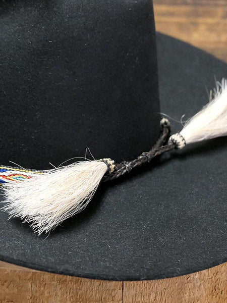 "Twister 0201897 1/2"" Ribbon With White Tassel Hatband Multi Back View. Hat is not included. Only Hatband."