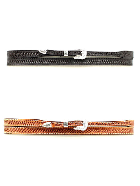 "Twister 1/2"" Basketweave Tooling Genuine Leather Hatband 0234601 (Black), 0234648 (Natural)"
