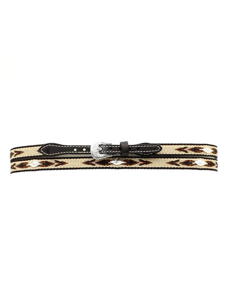 "Twister 1/2"" Embroidered with Diamond Conchos Leather Hatband 0277401 Black"