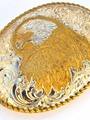 Johnson & Held American Eagle Nickle Silver Handcrafted Belt Buckle Johnson & Held - J.C. Western® Wear