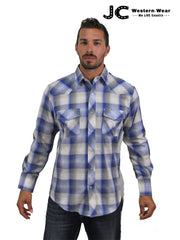 Men's Roper Karman Classics Blue Plaid Western Shirt