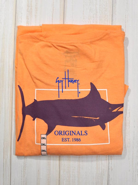 Guy Harvey Original GH Logo Short Sleeve Tee MTH6025 Mango
