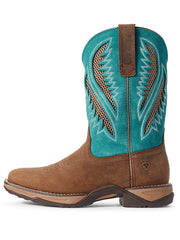 Ariat 10031665 Womens Anthem VentTEK Composite Toe Western Boot Turquoise Square Toe