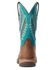 Ariat 10031665 Womens Anthem VentTEK Composite Toe Western Boot Turquoise Front View Square Toe