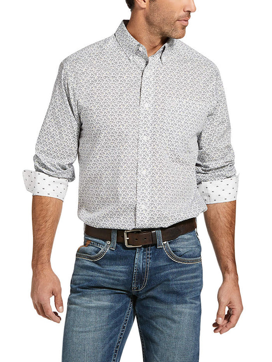 Ariat 10033048 Mens Wrinkle Free Laird Classic Fit Shirt White