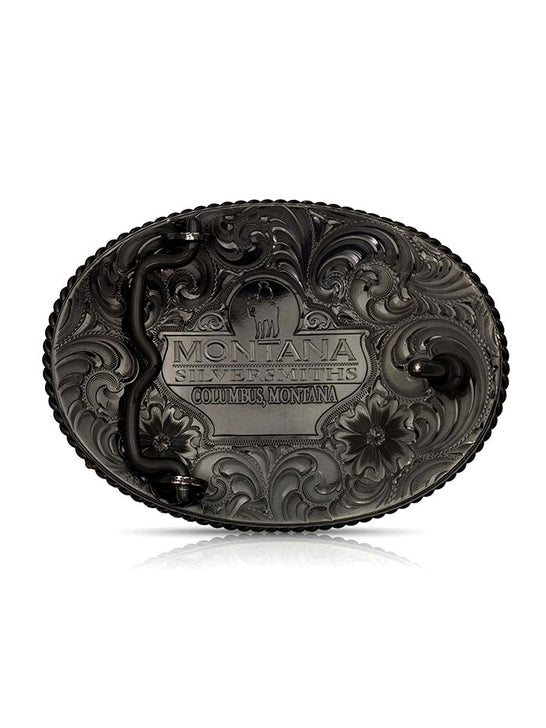 Montana Silversmiths 1258NBB-985 Vintage Bronze Rustic Buckle with Pheasants