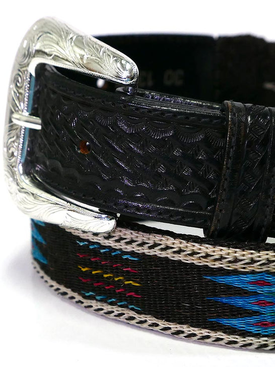 Tony Lama 1353L Mens Horsehair Braided Western Belt Multi-Color