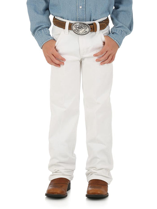 Boy's Wrangler ProRodeo Cowboy Cut Original Fit Jean 13MWBWI White at JC Western Wear