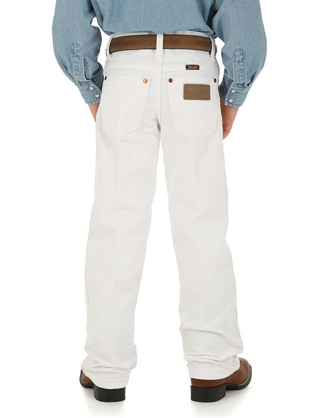 Boy's Wrangler ProRodeo Cowboy Cut Original Fit Jean 13MWBWI White Back