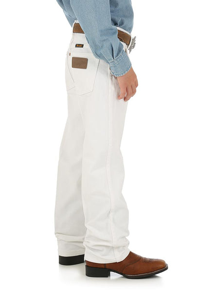 Boy's Wrangler ProRodeo Cowboy Cut Original Fit Jean 13MWBWI White Side