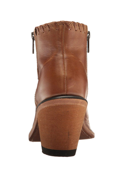 Old West 18151 Womens Ankle Zip Fashion Booties Tan Canyon
