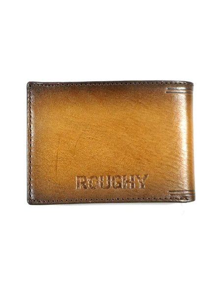 HOOey 1831161W1 Mens Bi-Fold Roughy Diamond Cut Leather Wallet back