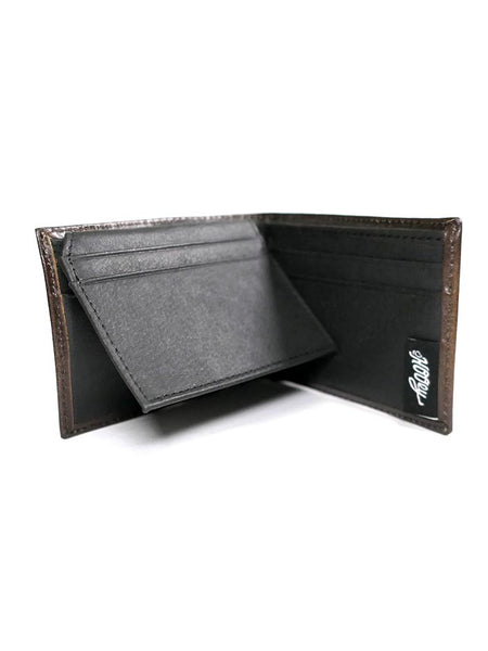 HOOey 1831161W1 Mens Bi-Fold Roughy Diamond Cut Leather Wallet inside