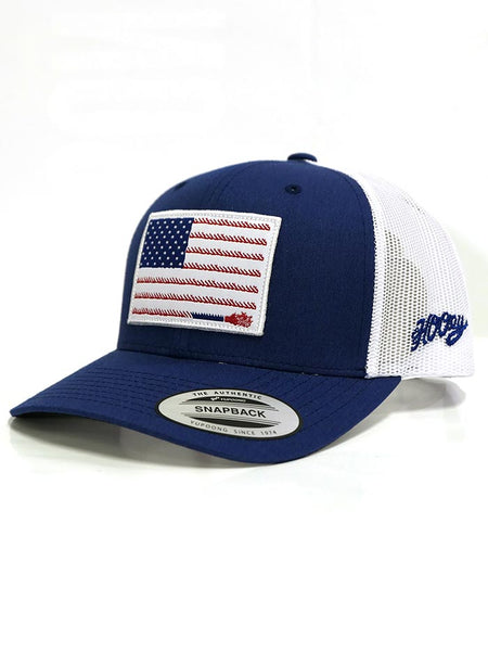 Hooey 1905T-BLWH American Flag Blue and White Ball Cap Snap Back