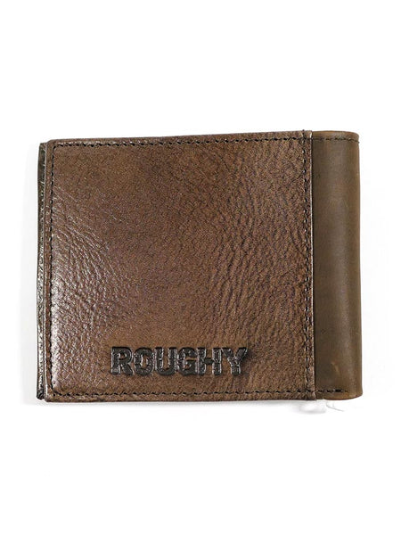 HOOey 1912138W4 Mens Bi-Fold Roughy Tan Yoek Tooled Wallet back
