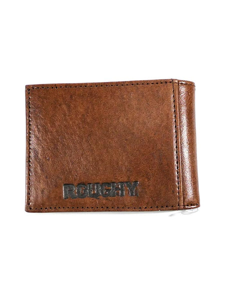 HOOey 1912161W1 Mens Bi-Fold Roughy Chestnut Boot Stitched Wallet Back