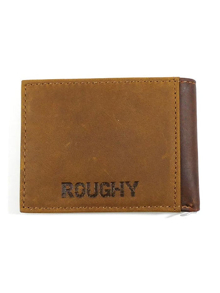 HOOey 1983161W1 Mens Bi-Fold Roughy Tan Brown Leather Wallet back