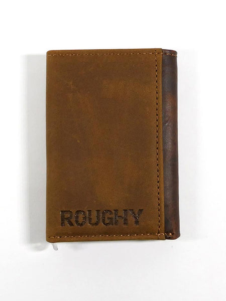 HOOey 1983322W1 Mens Tri-Fold Roughy Stitched Leather Wallet back