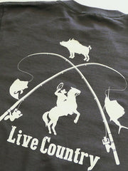 JC Western JC61LS Mens Live Country Long Sleeve Tees Charcoal Back