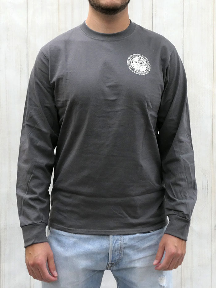 JC Western 1PC61LS Mens Live Country Long Sleeve Tees Charcoal with a man back view