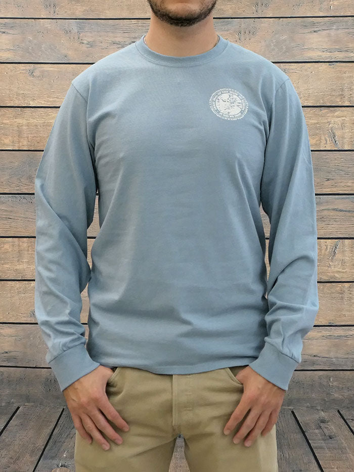 JC Western 1PC61LS Mens Live Country Long Sleeve Tee Light Blue with a man back view