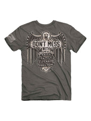 Buck Wear 2036 Mens Don't Mess Short Sleeve Graphic Tee Back