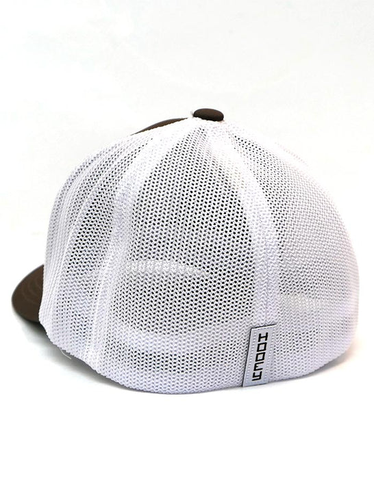 Hooey 2044BRWH-01 Cheyenne Brown and White Flex-Fit Ball Cap Back