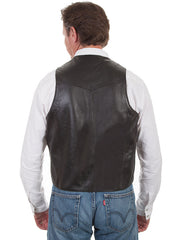 Scully 206 Mens Leather Whip Stitch TrailRider Leather Vests 206-11 Back of Black