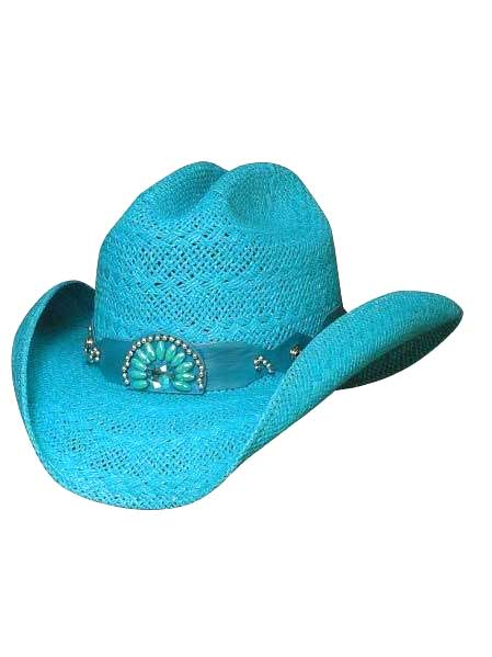 "Bullhide ""Itchygoonie"" Blue Straw Hat 2223BU"