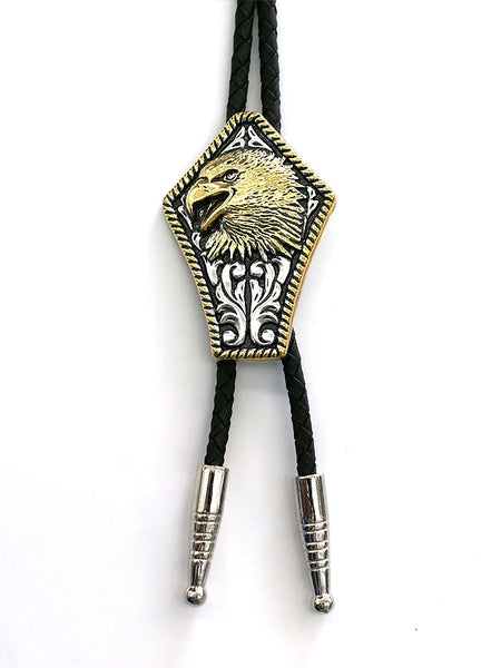Double S 22824 Eagle Head Adult Bolo Tie front view