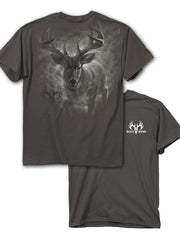 Buck Wear 2644 Mens Full Steam Ahead Short Sleeve Graphic Tee Front and Back