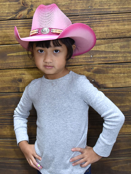 Bullhide 2814P Kids Little Goodbye Straw Hat Pink Keiki