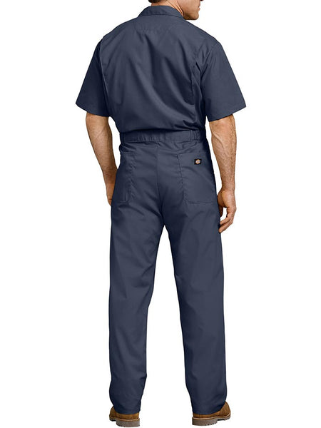 Dickies 33999 Mens Lightweight Short Sleeve Coveralls NAVY BACK
