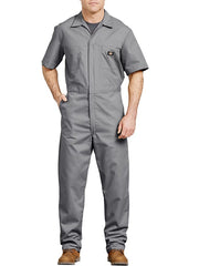 Dickies 33999 Mens Lightweight Short Sleeve Coveralls 33999GY GREY FRONT