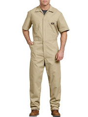 Dickies 33999 Mens Lightweight Short Sleeve Coveralls KHAKI 33999KH