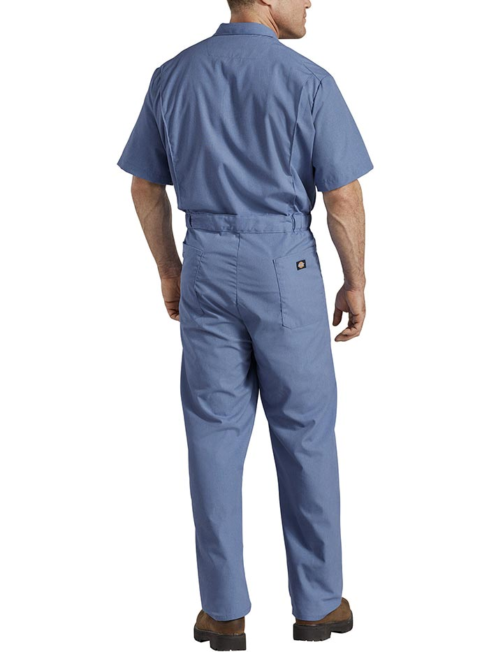 Dickies 33999 Mens Lightweight Short Sleeve Coveralls 33999DN NAVY FRONT