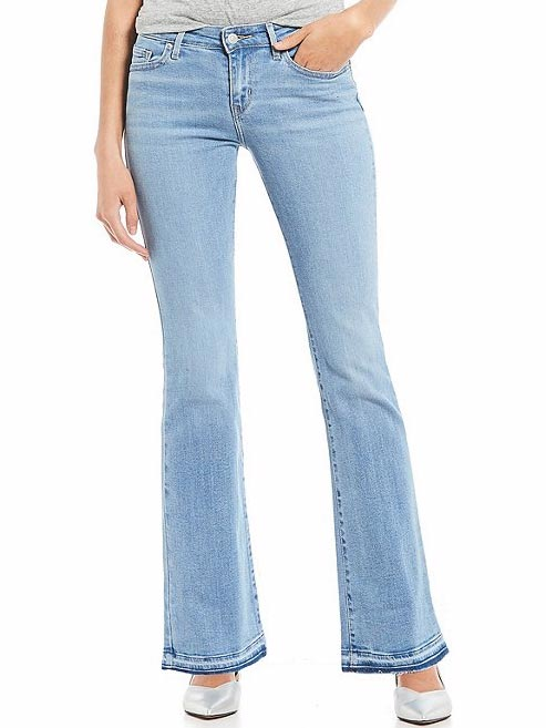 Levi's Womens 715 Vintage Raw Edge Spaced Out Bootcut Jeans 363120011 front