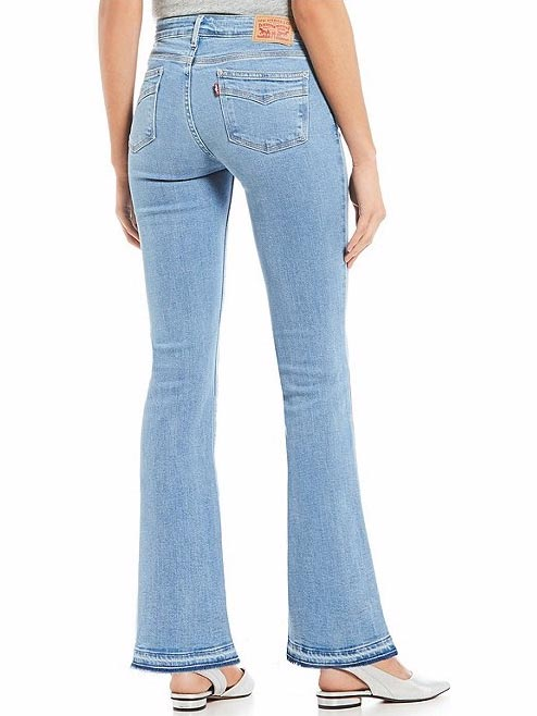 Levi's Womens 715 Vintage Raw Edge Spaced Out Bootcut Jeans 363120011 back