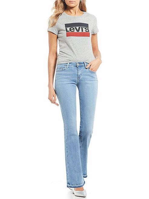 Levi's Womens 715 Vintage Raw Edge Spaced Out Bootcut Jeans 363120011 at JC Western wear