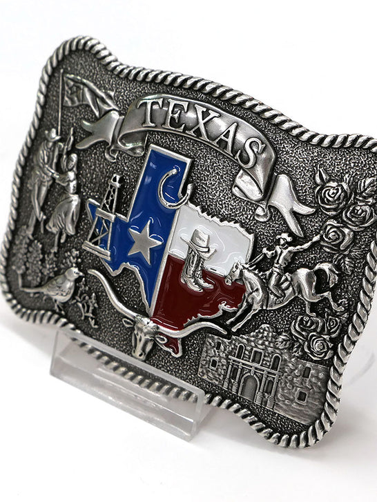 Nocona 37592 Scalloped State of Texas Motif Belt Buckle Side