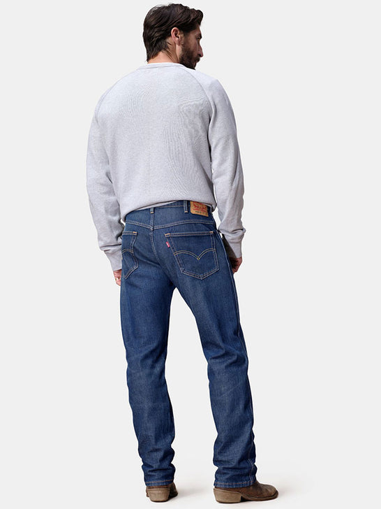 Levi's 376810006 Mens So Lonesome Stretch Straight Leg Jeans Back View