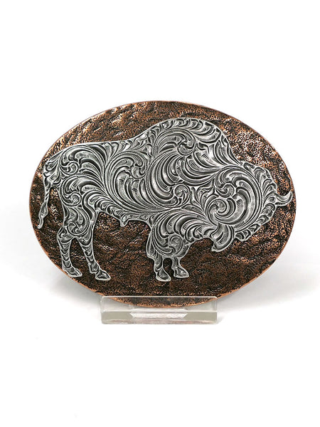 Nocona 37712 Mens Oval Buffalo Copper Western Belt Buckle Front