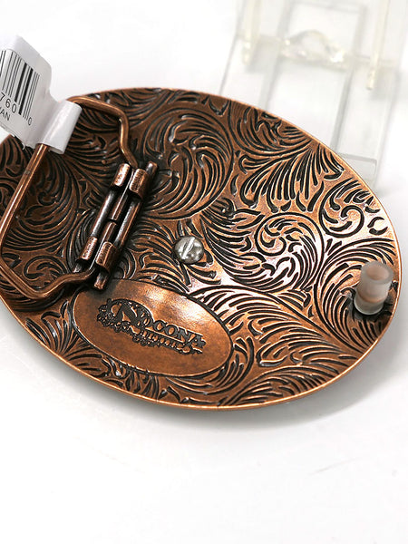 Nocona 37712 Mens Oval Buffalo Copper Western Belt Buckle Back View