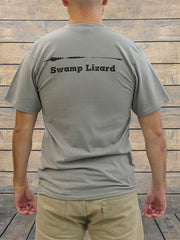 JC Western 3PC61SS Mens Swamp Lizard Short Sleeve Tees Medium Grey BACK VIEW
