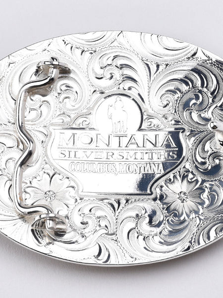 Montana Silversmiths 43210 Texas Proud Filigree Oval Buckle Back USA