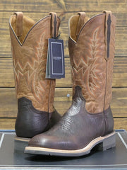 Lucchese M4090.WF Mens Rudy Peanut Cowhide Performance Cowboy Boots Chocolate at JC Western Wear