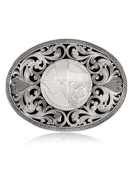 Montana Silversmiths 43210 Texas Proud Filigree Oval Buckle Front Made in USA