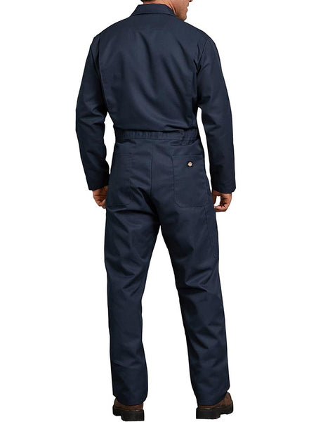 Dickies 48611DN Mens Blended Long Sleeve Coveralls Dark Navy 48611